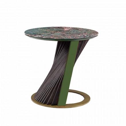 Tryezë luksoze e rrumbullakët kafeje në Gres dhe hiri i bërë në Itali - Bering