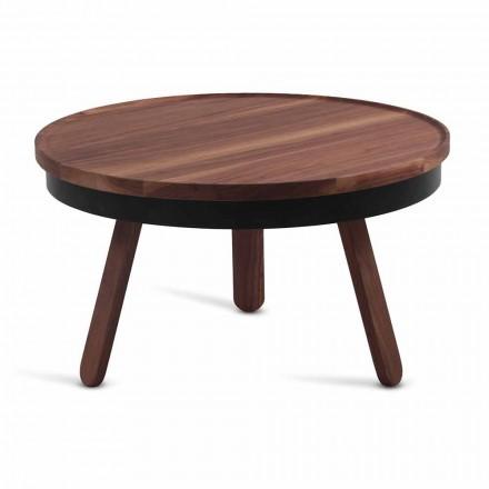 Tryezë e rrumbullakët kafeje në dru dhe metal të ngurtë - Salerno
