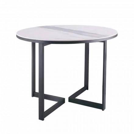 Tavolinë kafeje e rrumbullakët në Gres dhe Metal Modern i Prodhuar në Itali - Albert
