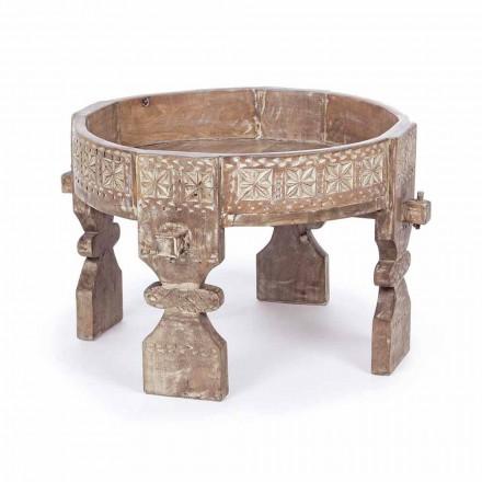 Homemotion Tavolinë kafeje me stil Rustic në Mango Wood - Sania