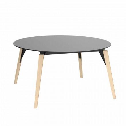 Tavolinë kafeje prej druri të rrumbullakët dhe Hpl Top në 2 madhësi - Faz Wood nga Vondom