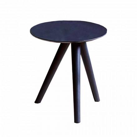 Tavolinë kafeje e rrumbullakët në dru të lakuar me gri të zezë prodhuar në Itali - Stuttgart
