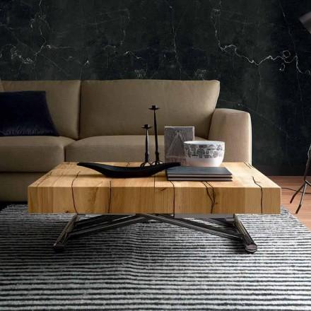 Transformimi i tryezës së kafesë në dru të ngurtë prodhuar në Itali - Trabucco