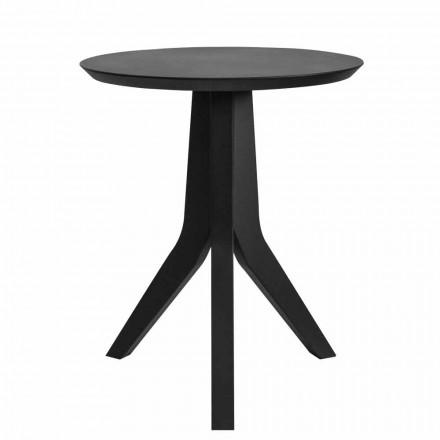 Dizajn modern Rrumbullakët tryezë e zezë me kafe të llakuar - Sperone