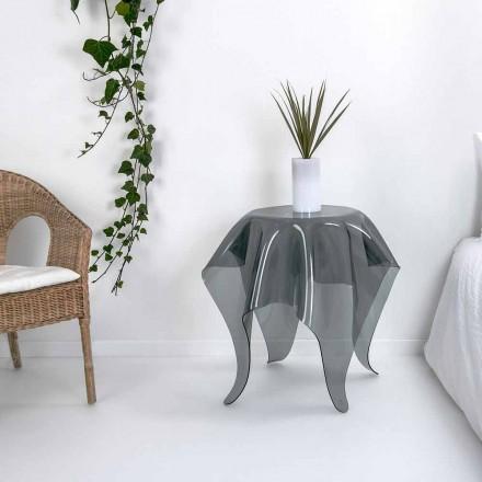 Tavolinë kafeje pleksiglasi Fumé me një model modern Otto, të bërë në Itali