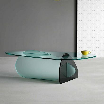 Dizajnimi i Tavolinës së Kafe në Qelq transparent, të tymosur dhe të hedhur në Itali - Tac Tac