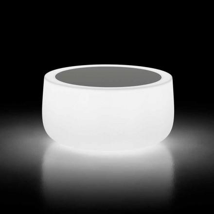 Tavolinë kafeje në natyrë të Ndritshme me Dritë LED dhe Lartë Hpl Prodhuar në Itali - Belida