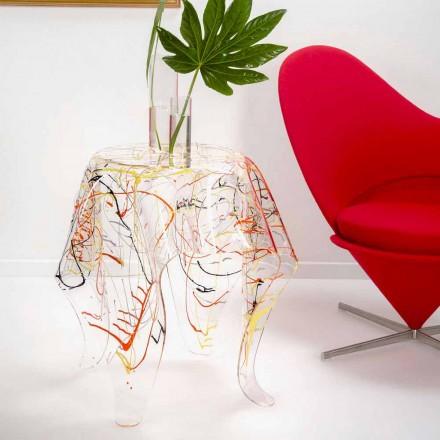 Tavolinë kafeje moderne shumëngjyrësh plexiglase e bërë në Itali, Otto