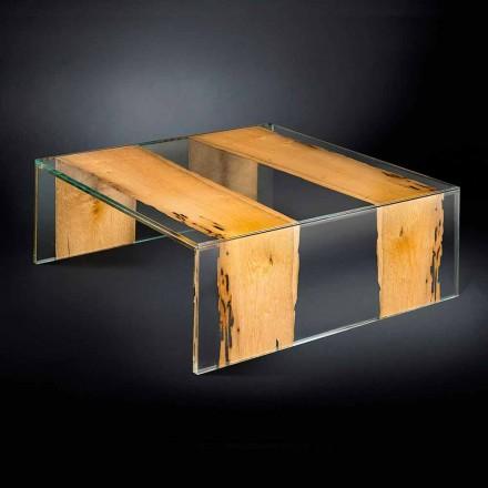 Tabela kafeje qelqi dhe druri katror Venezia