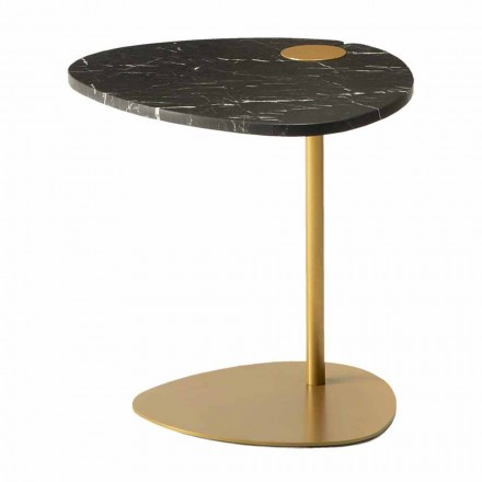 Tavolinë kafeje për dhomën e ndenjes në mermer metali dhe marquinia, dizajn luksoz - Yassine