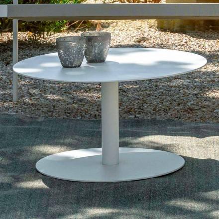 Tabela e rrumbullakët e kafes së kopshtit në alumin të bardhë ose qymyr - çelës nga Talenti