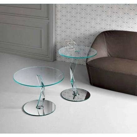 Tavolinë kafeje me dizajn të rrumbullakët në gotë ekstra të pastër të bërë në Itali - Akka