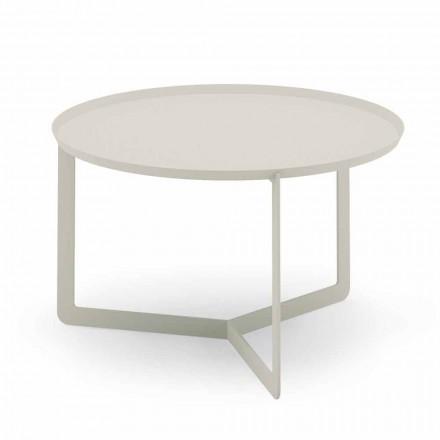 Raundi tryezë e kafesë në natyrë në metal kërp ose baltë - Stephane