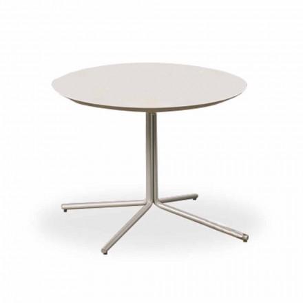Tavolinë kafeje e rrumbullakët në MDF të Bardhë me Dizajn Modern 2 Madhësi - Gjeoni