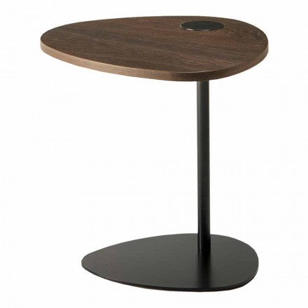 Tavolina e kafesë e dhomës së ndenjes në pjesën e sipërme prej metali dhe druri, Dizajn luksoz - Yassine
