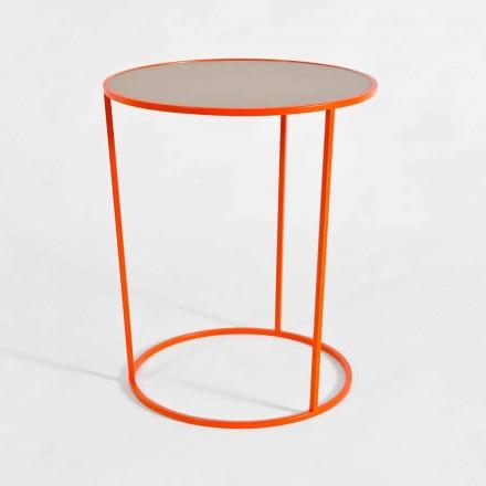 Tavolinë kafeje e rrumbullakët moderne në metal me ngjyra prodhuar në Itali - Raphael