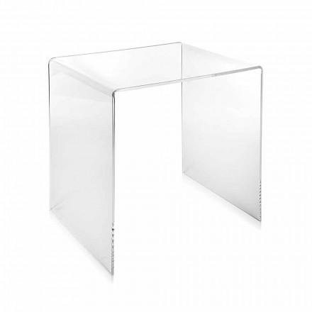 Tabela moderne e kafesë transparente 40x40 cm Terry Small, e bërë në Itali