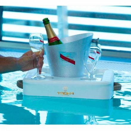 Tavolinë kafeje Trona - tabaka lundruese për dizajnin në eko-lëkurë detare