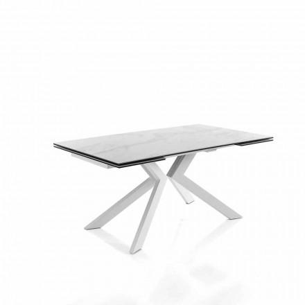 Tavolinë moderne e zgjatshme e kuzhinës në qeramikë qelqi - Vinicio