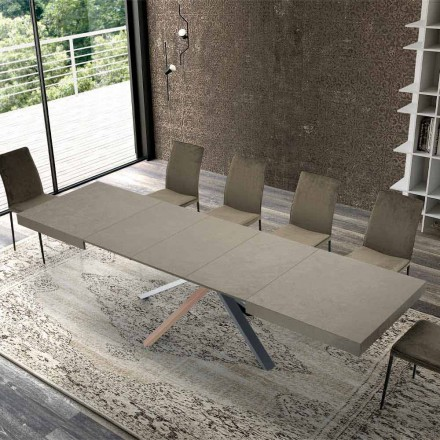 Tabela e zgjatur e darkës në Dru me Dizajn Modern deri në 3.1 m - Argentario