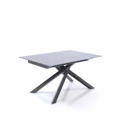 Tavolinë ngrënieje e zgjatur në gotë dhe metal - Tristano