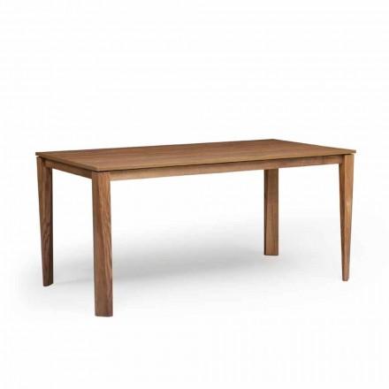 Dizenjoni tryezë të zgjatshme me bazën e drurit të hirit, të bërë në Itali, Medicina