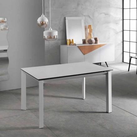 Tabela moderne e shtrirjes deri në 220 cm plan i bardhë qeramik Nosate