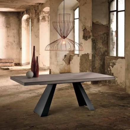 Dizenjoni tryezë të zgjatur në dru lisi të bërë në Itali, Zerba