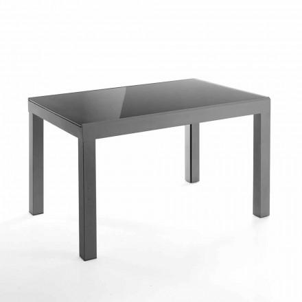 Dizajnimi i tabelës së zgjatshme në qelq dhe metal - Guerriero