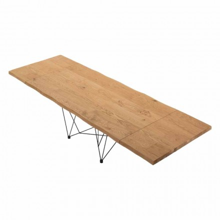 Tabela e zgjatur deri në 300 cm në Venereed Wood Made in Italy - Ezzellino