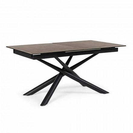 Tavolinë e Zgjatshme Deri në 220 cm në Lëvizjen Homemike Qeramike dhe Çeliku - Brianza