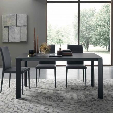 Tavolinë e Zgjatshme Deri në 250 cm me Xham të Prodhuar në Itali - Pitagora