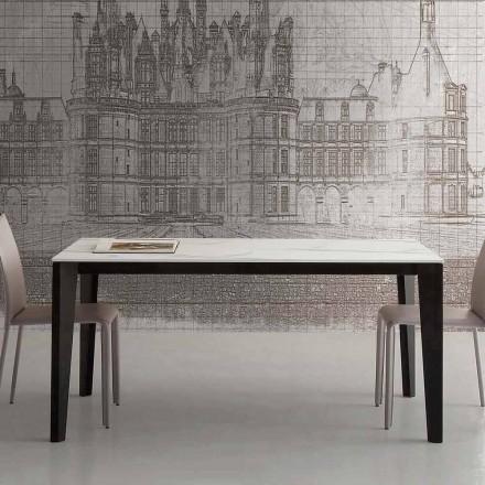 Tavolinë e zgjatur deri në 290 cm në qeramikë qelqi Prodhuar në Itali - Polonio