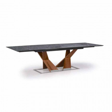 Tavolinë e Zgjatshme Deri në 294 cm me majë në Gres Prodhuar në Itali - Monique