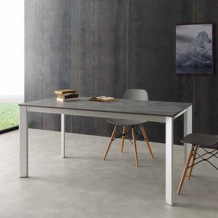 Tavolinë ngrënieje e zgjatur Urbino, e bërë nga alumini dhe Hpl