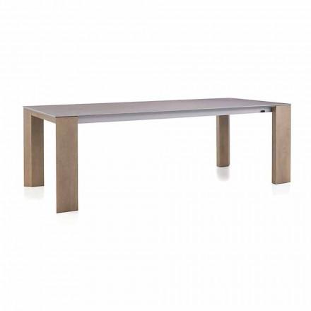 Tavolinë e Zgjatshme Deri në 300 cm në Këmbë Qeramike dhe Druri - Ipanemo