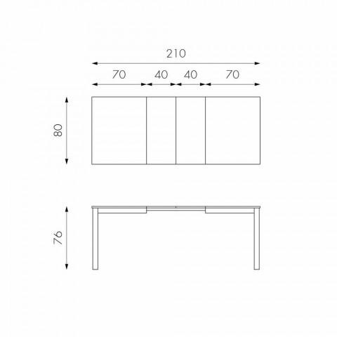 Tavolinë e zgjatur në dru ahu të bërë në Itali Tito
