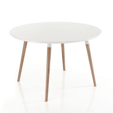Tavolinë ngrënieje e zgjëruar, me krye të bardhë Ian