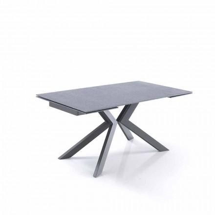 Dizajnimi i tabelës së zgjatshme në qelq dhe metal - Piersilvio