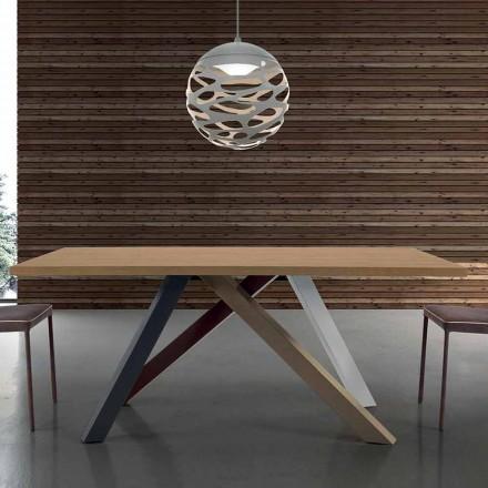 Tabela moderne e zgjerueshme me dru të laminuar të prodhuar në Itali - Settimmio