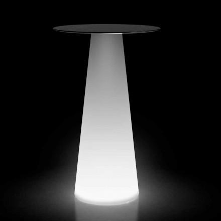 Tavolinë e Lartë e Jashtme me Dritë LED në HPL dhe Polietileni Prodhuar në Itali - Forlina