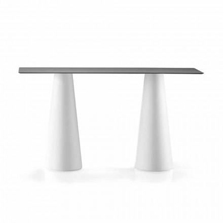 Tavolinë e Lartë e Jashtme me Top Drejtkëndëshe në Hpl Prodhuar në Itali - Forlina