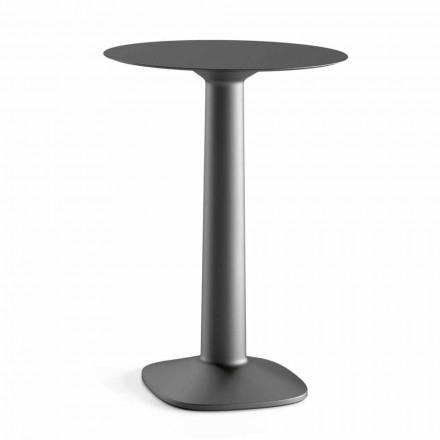 Tavolinë e Lartë e Rrumbullakët në Polietileni me Lartë Hpl Prodhuar në Itali - Pito