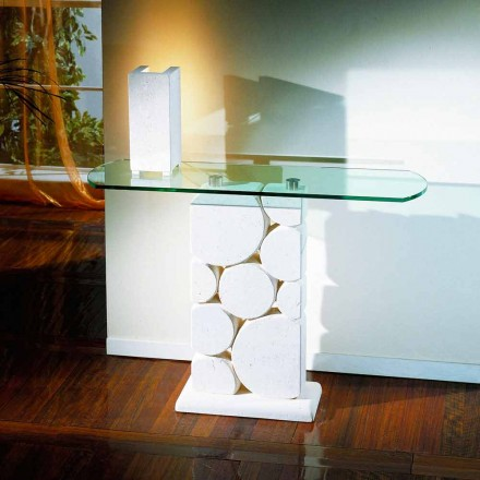 Tabela klasike e konzollës e bërë nga guri natyror Vicenza dhe kristali Hosios