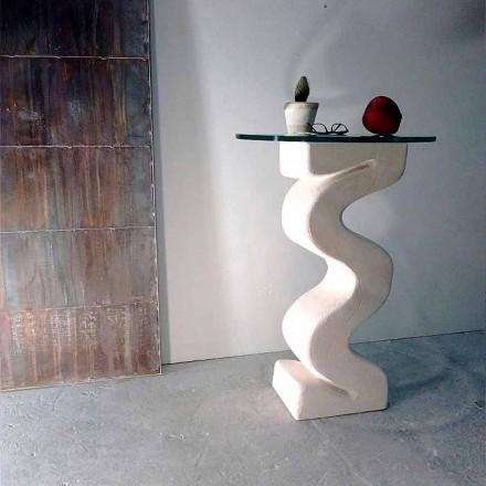 Tavolina e rrumbullakëtme tastierë e bërë nga kristalet dhe Babilitë prej guri natyror Vicenza