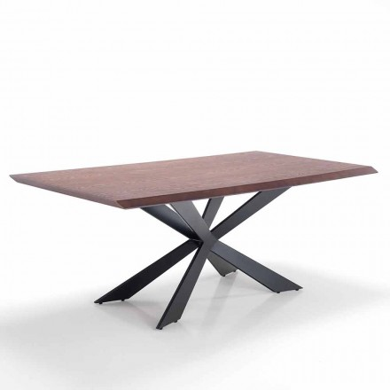 Tavolinë ngrënieje me dizajn modern në Mdf dhe metal - Hoara