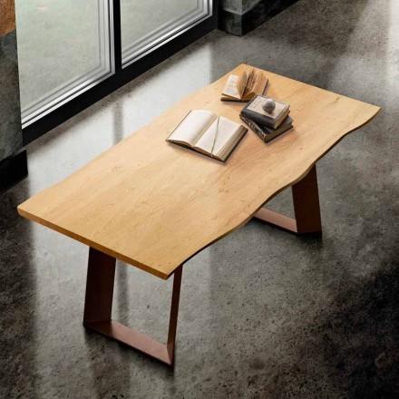 Tavolinë ngrënieje prej druri të ngurtë dhe metali të bërë në Itali, Flora
