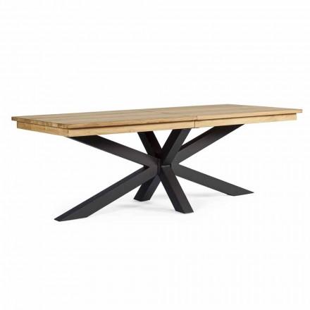 Tavolinë e jashtme e zgjerueshme Deri në 300 cm në dru tik, Homemotion - Selenia