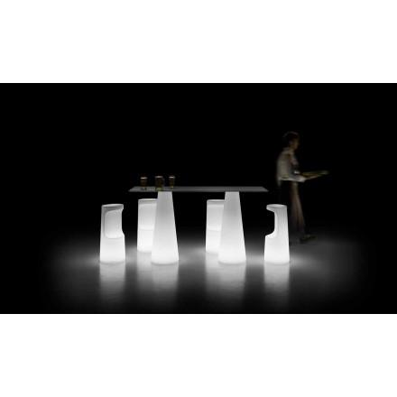 Dizajnoni tryezë në natyrë me bazë ndriçuese me drita LED prodhuar në Itali - Forlina