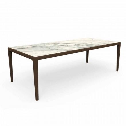 Dizajnoni një tryezë në natyrë në dru tik dhe Capraia Gres - Cruise Teak Talenti